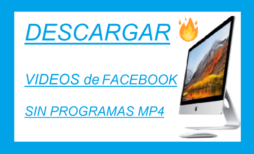descargar videos de facebook sin programas