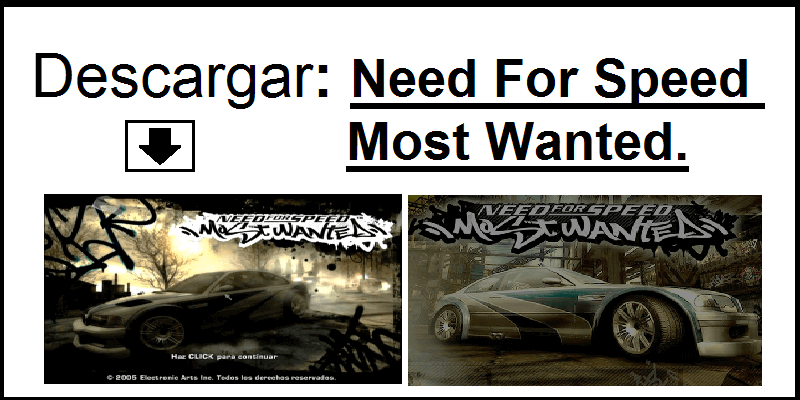 descargar need for speed most wanted para pc